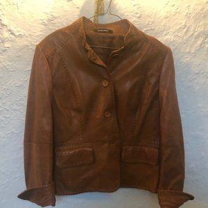 Leather Bomber Jacket - LIKE NEW!
